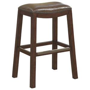 Backless Bar Stool With Upholstered Seat
