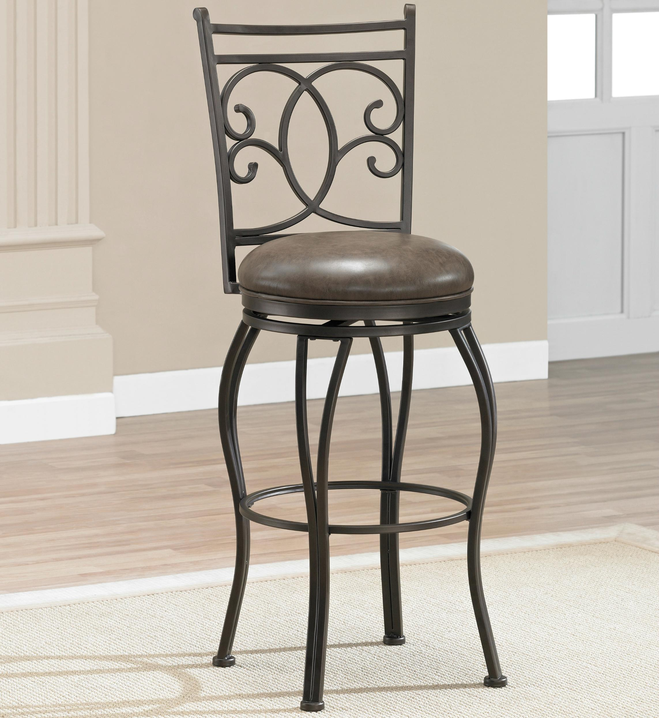 "American Heritage Billiards Bar Stools 26"" Nadia Bar Stool - Item Number: 126928COC"