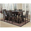 American Heritage Billiards Burlington 7 Piece Craps Table and Westwood Chairs Set - Shown with Game Top
