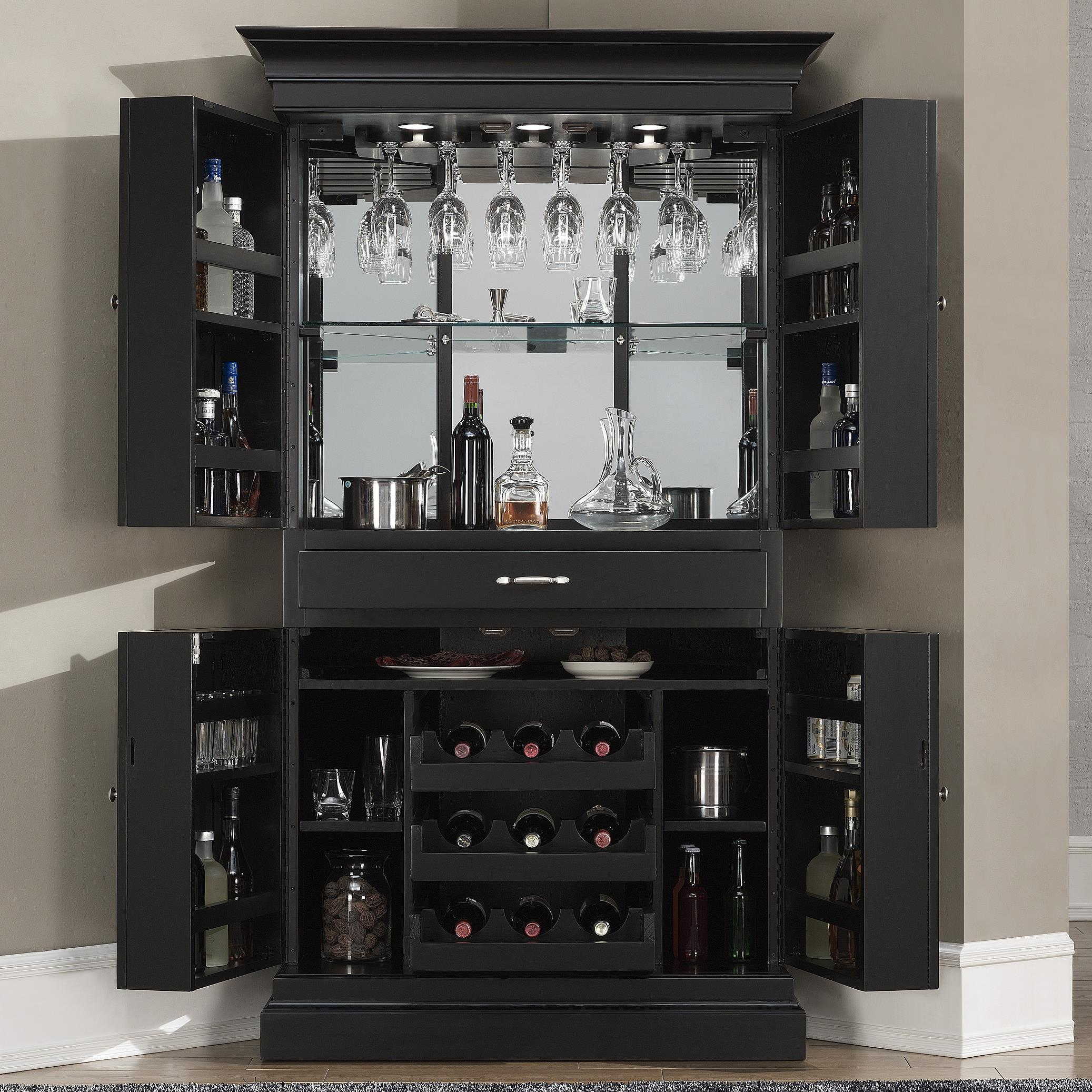 American Heritage Billiards Francesca Corner Bar Armoire | Bullard Furniture  | Bar   Bar Cabinet Fayetteville, NC