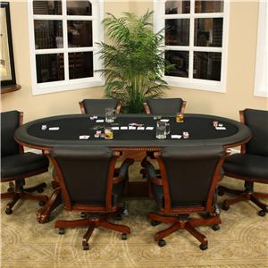 American Heritage Billiards High Stakes Oval Game Table | Mueller Furniture | Game Table & American Heritage Billiards High Stakes Oval Game Table | Mueller ...
