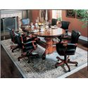 American Heritage Billiards High Stakes 7 Piece Game Table and Chair Set - Shown with Flip-Top Dining Table Top