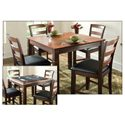 American Heritage Billiards Melrose Ladder Back Pub Chair - Shown in Dining Set with 2-in-1 Pub Table