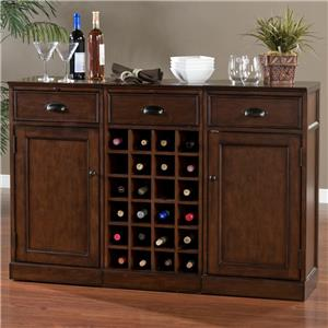 American Heritage Billiards Natalia 3-Piece Modular Bar with Wine Unit