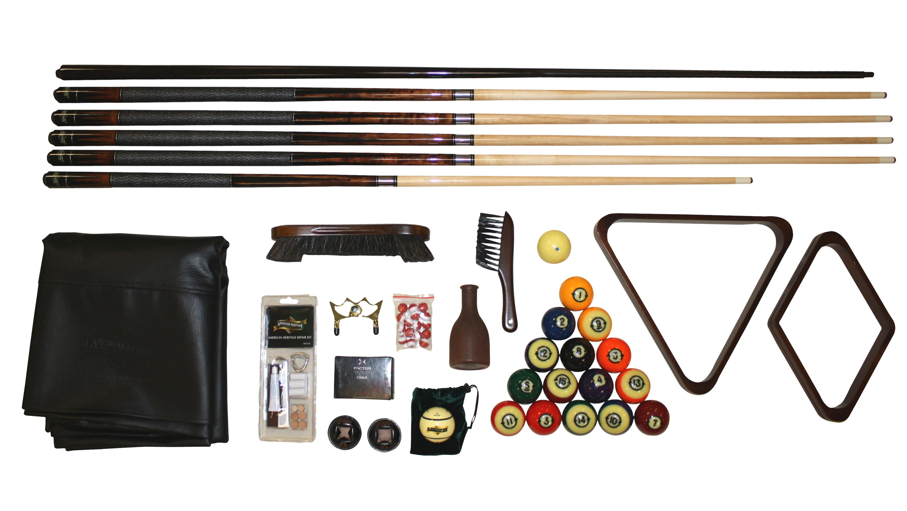 American Heritage Billiards Sausalito Accessory Kit - Item Number: 300134