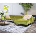 American Leather Adriana Sofa with Chaise - Item Number: AIA-SO2-RA+LCH-LA