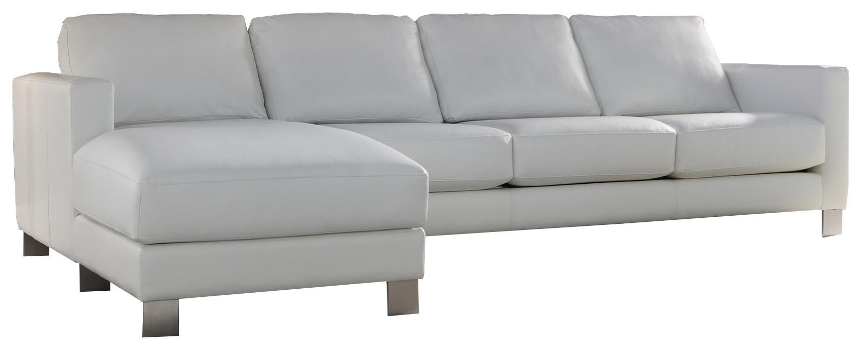 Alessandro Sofa with Chaise by American Leather at Williams & Kay
