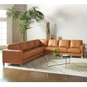 American Leather Alessandro Sectional - Item Number: ALE-SO3-RA+CNR-SQ+SO3-LA