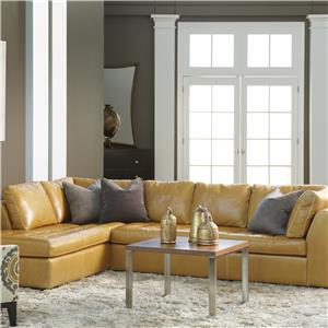 Astoria Casual Sectional with Right Arm Chaise by American Leather