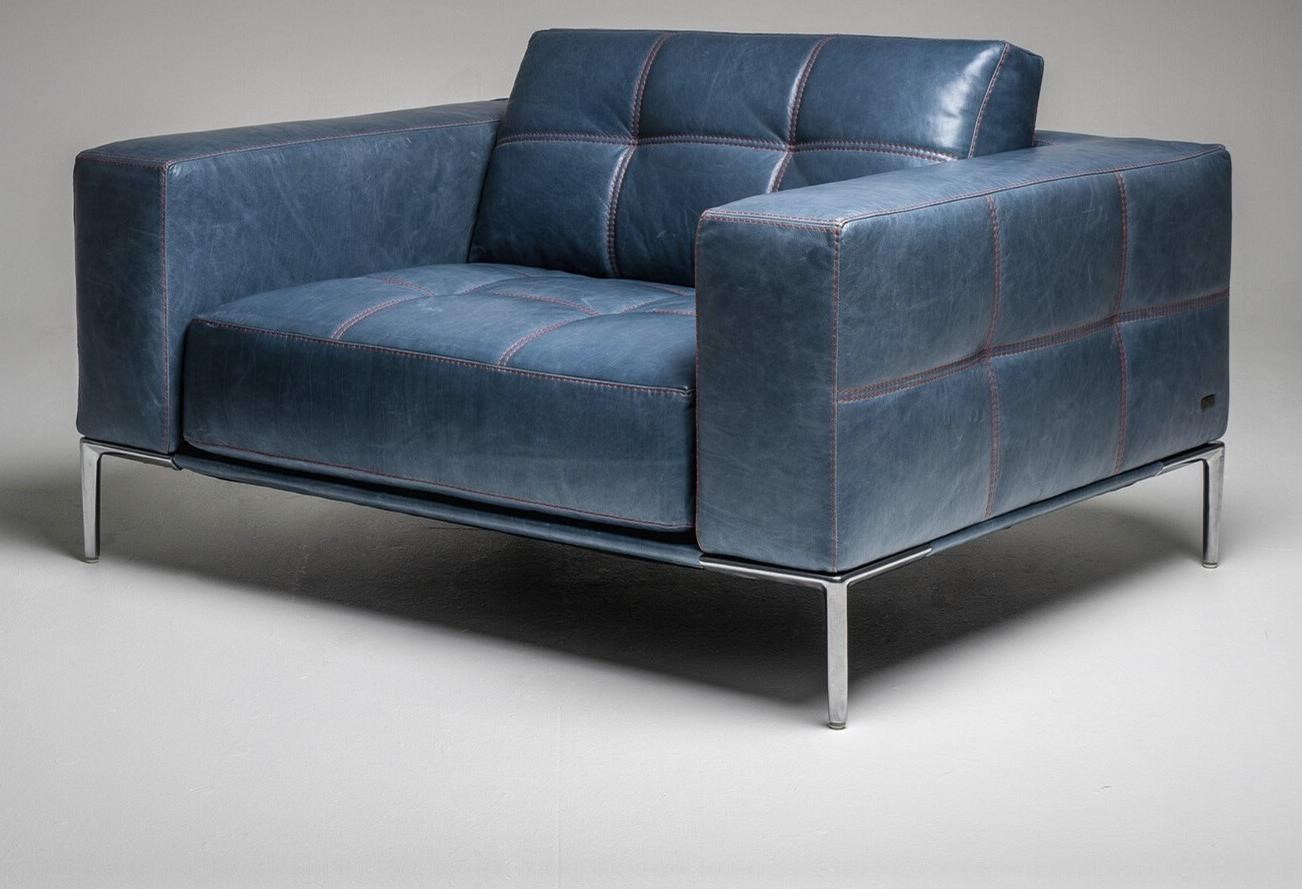 Barcelona Upholstered Chair by American Leather at Baer's Furniture