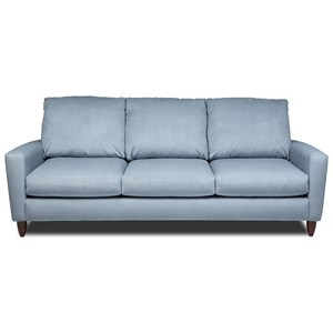 Contemporary Sofa with Exposed Wood Legs