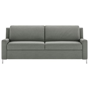 Contemporary Queen Sleeper Sofa with Metal Legs
