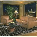 American Leather Carson Ultrasuede Chair - Shown With Coordinating Sofa