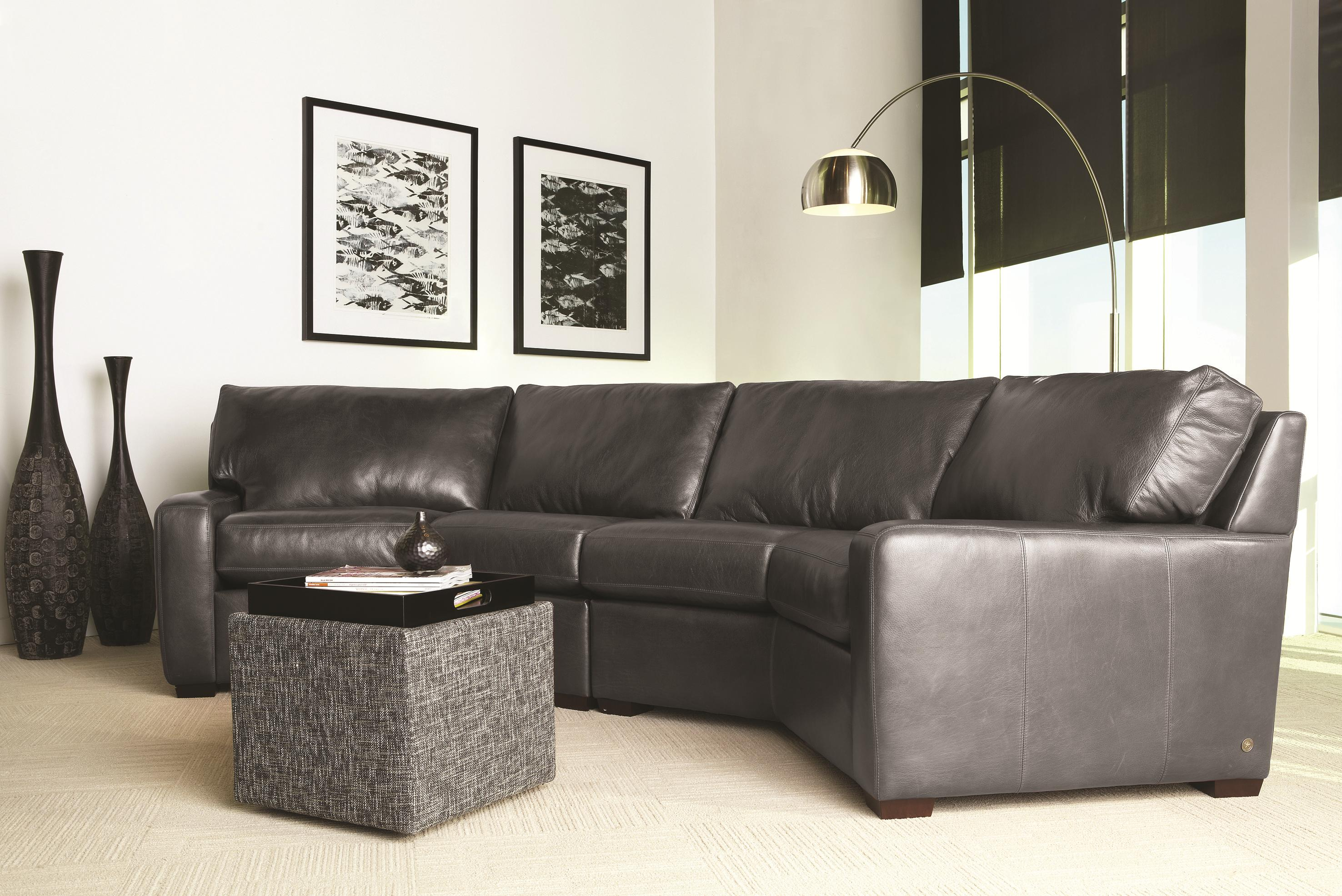 American Leather Carson Leather Sectional - Item Number: CSN-WDG-LA+RA
