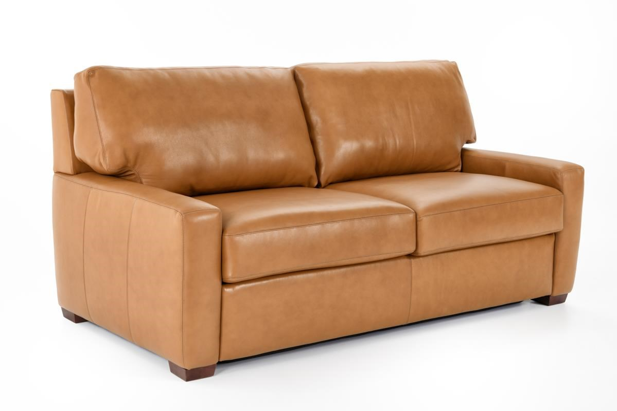 American Leather Comfort Sleeper - Cassidy Sofa Sleeper - Item Number: CAS-S02-QS BISON