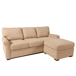 American Leather Comfort Sleeper - Gina Queen Sleeper with Chaise