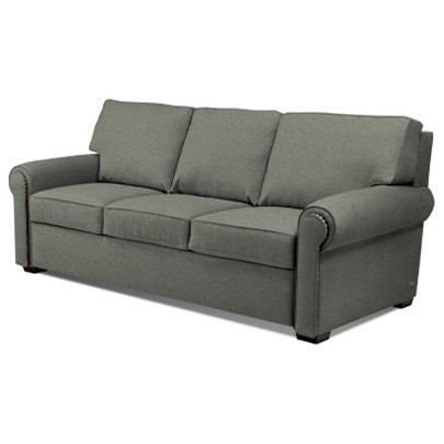 American Leather Comfort Sleeper Reese Roll Arm Queen