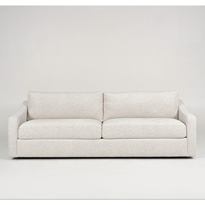 Contemporary 2-Seat Sofa with Sloped Arms