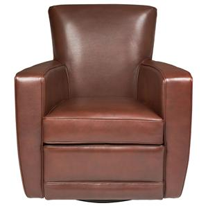 American Leather Ethan  Contemporary Swivel Chair