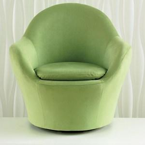 Contemporary Swivel Barrel Chair