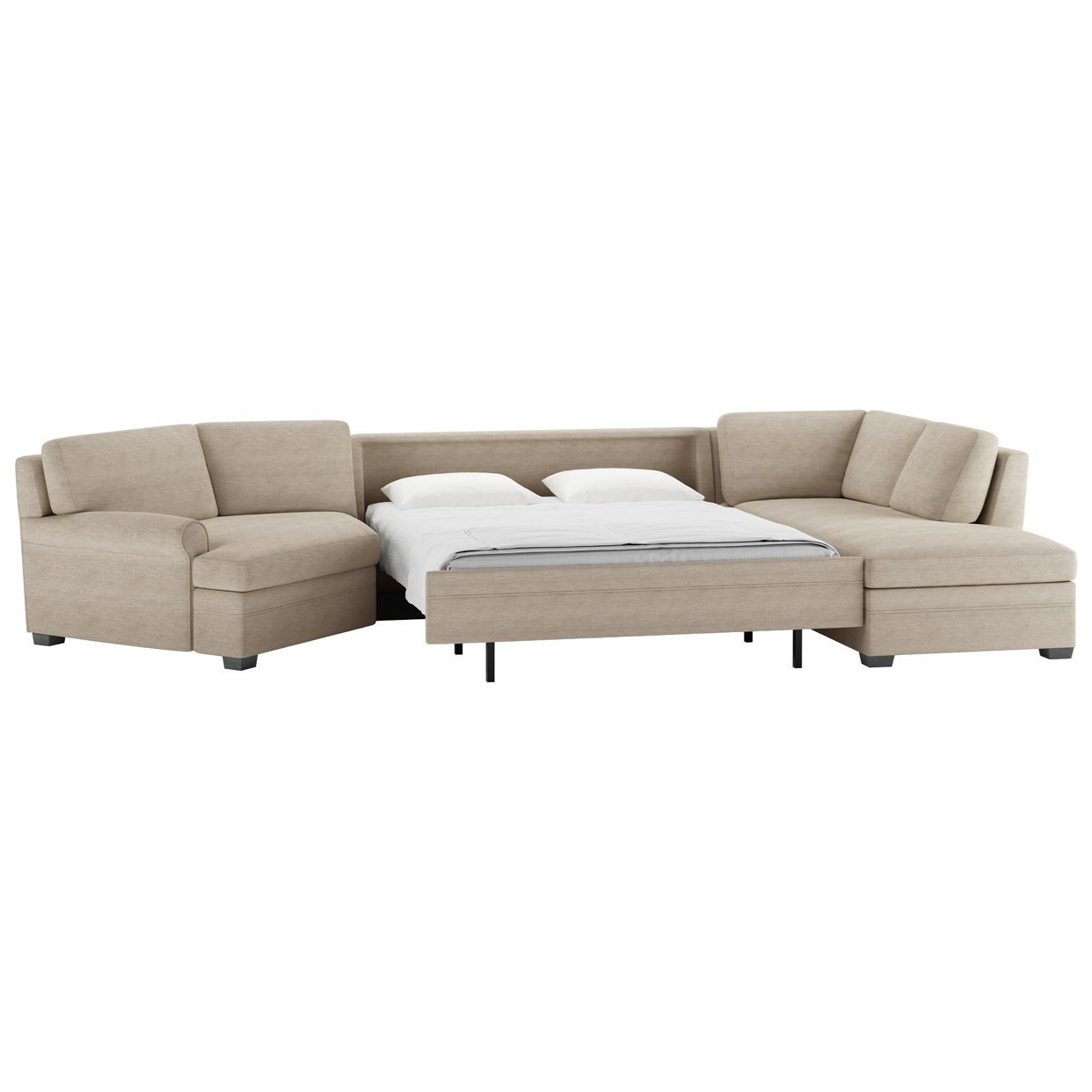 American Leather Gaines Three Piece Sectional Sofa With
