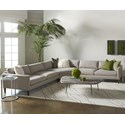 American Leather Petite Track Arm - Personalize Petite Track Arm Sectional - Item Number: LLP-S2L-RA+CNL-LG+S2L-LA