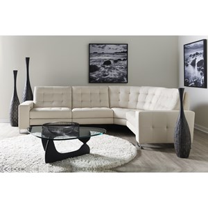 Contemporary Power Reclining L-Shaped Sectional