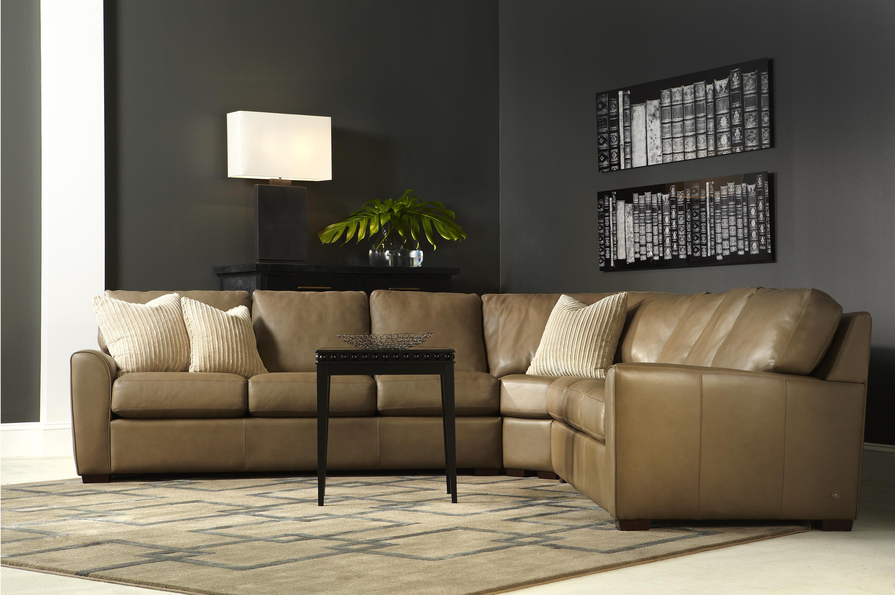 American Leather Kaden Casual Two Sofa Sectional With