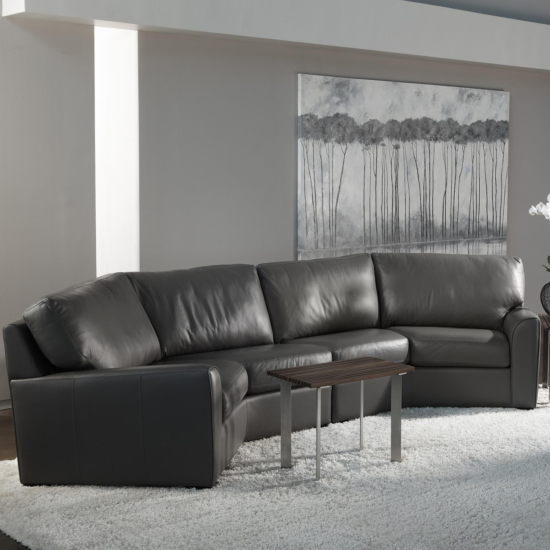 American Leather Kaden Casual Wedge Sectional Sofa