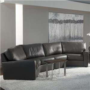 Kaden Casual Wedge Sectional Sofa by American Leather