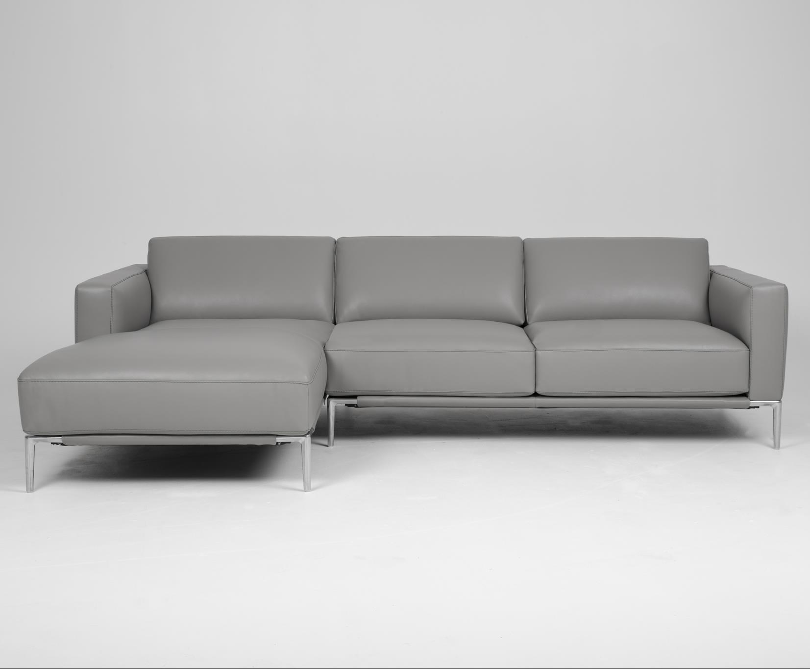 London Sofa with Chaise by American Leather at Baer's Furniture