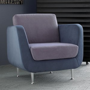 Contemporary Chair with Metal Legs