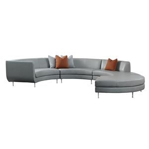 5-Seat Sectional w/ Left Arm Chaise & Otto