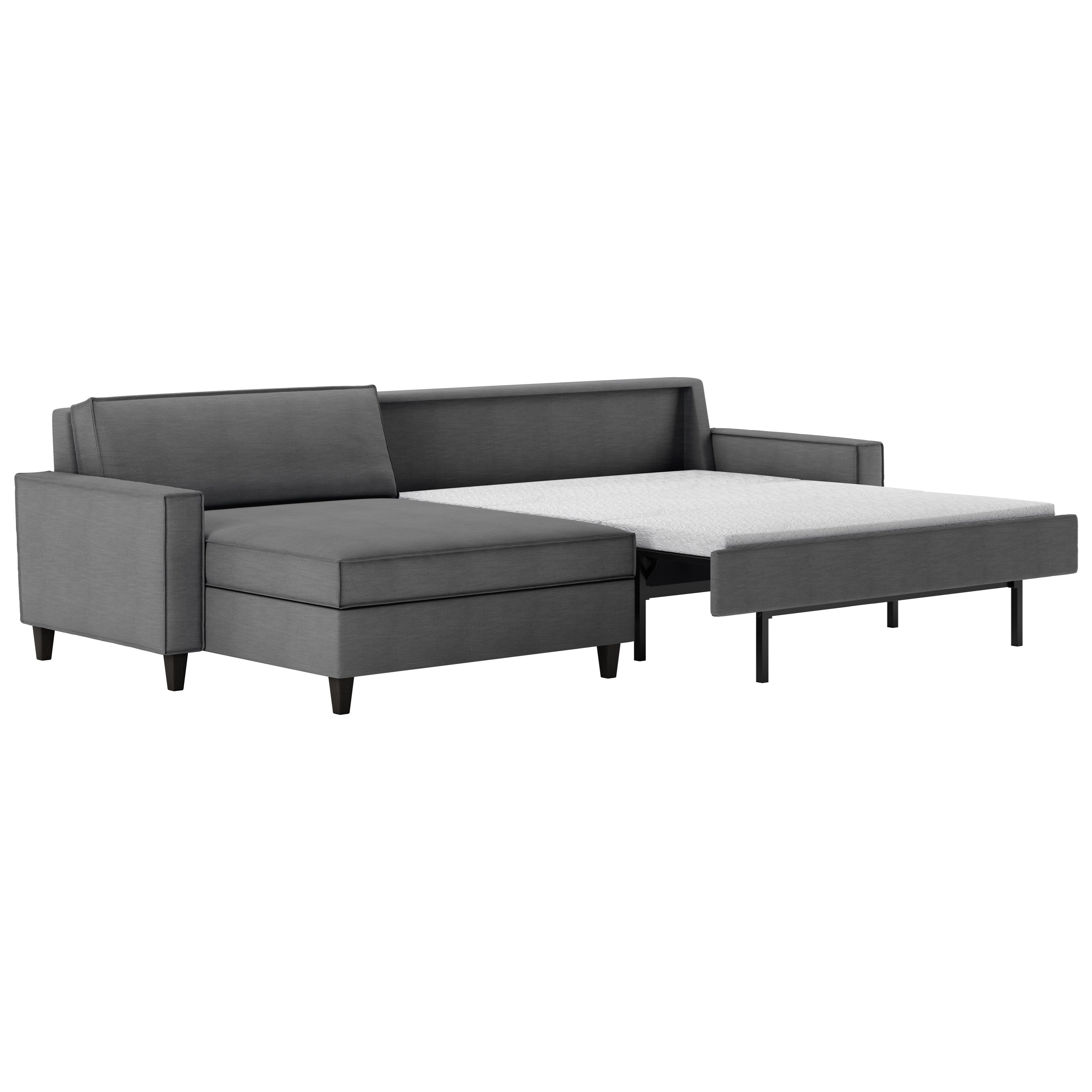 - American Leather Mitchell Contemporary Two Piece Sectional Sofa