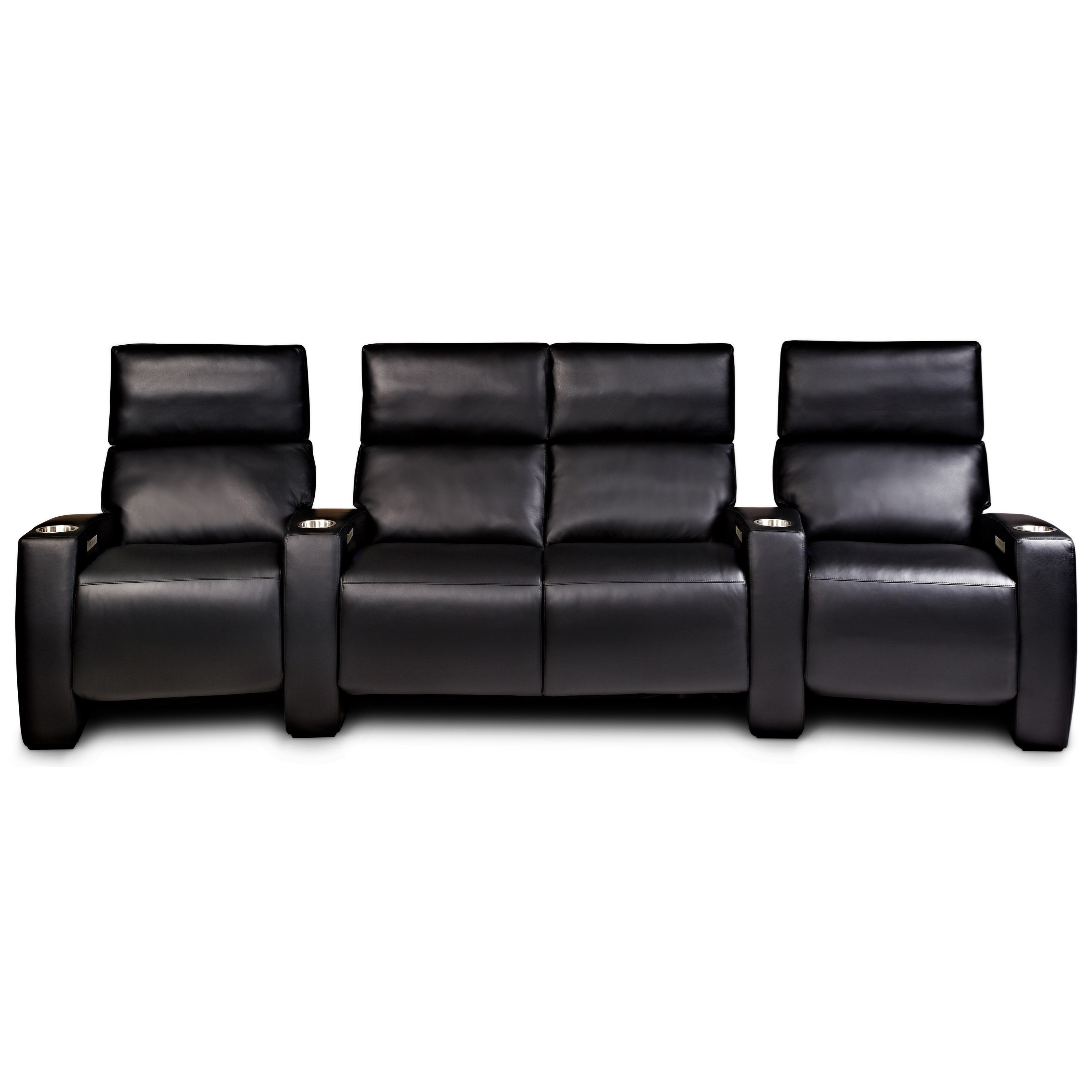 Wondrous American Leather Monroe 4 Seat Power Reclining Home Theater Creativecarmelina Interior Chair Design Creativecarmelinacom