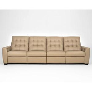 Contemporary Power Reclining 4-Seat Sofa