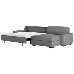 2 Pc Sectional w/ Queen Sleeper & Lge Chaise