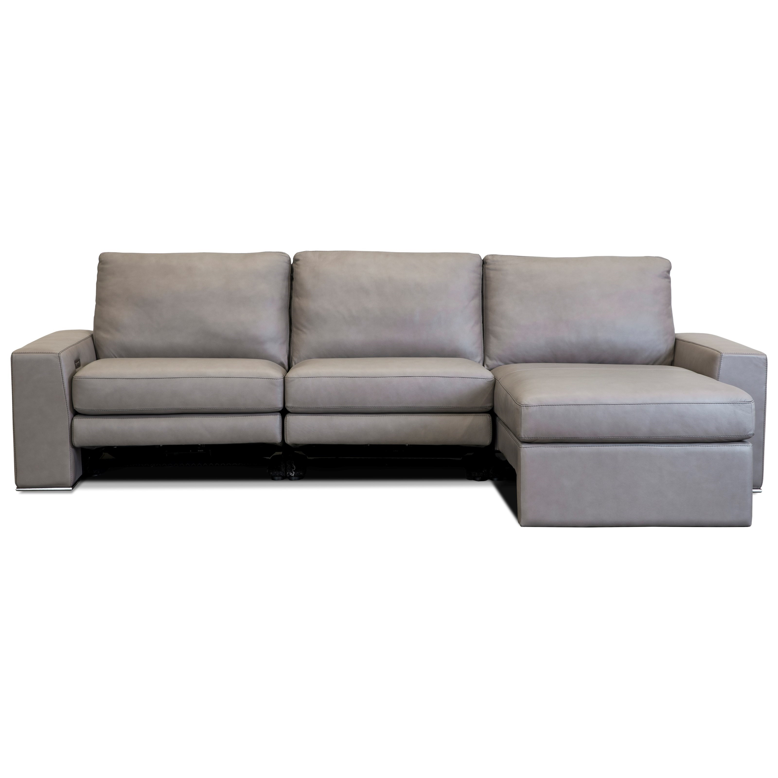 Picture of: American Leather Paxton Contemporary 3 Seat Power Reclining Sectional Sofa With Usb Chargers And Left Arm Sitting Chaise Sprintz Furniture Reclining Sectional Sofas