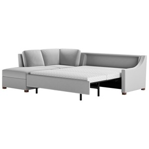 American Leather Perry 2 Pc Sectional Sofa W/ Queen Sleeper