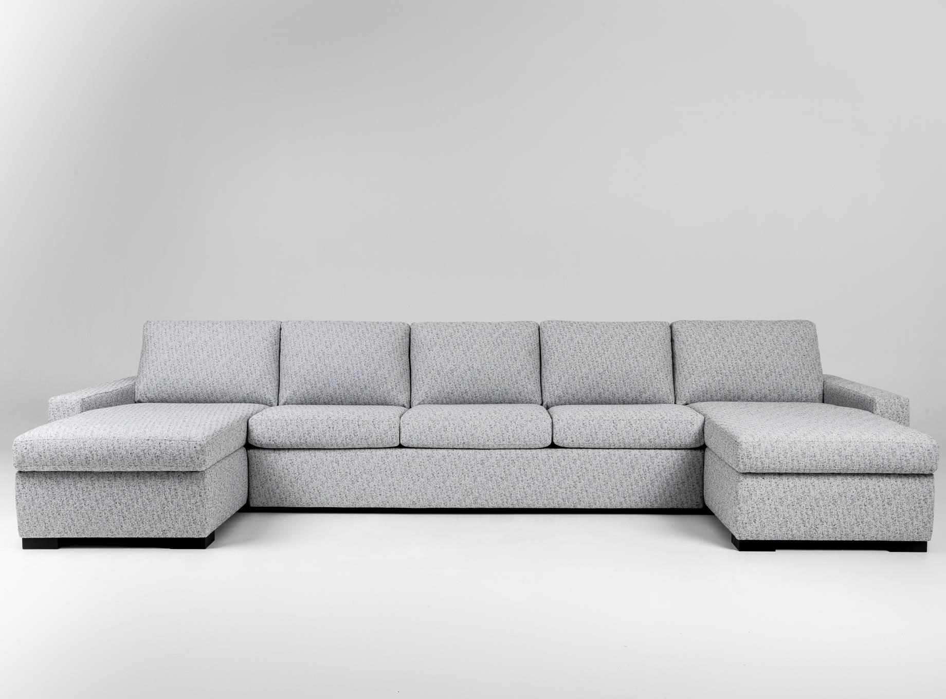 Rogue 5-Seat Sectional Sofa w/ Sleeper by American Leather at Baer's Furniture