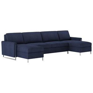 3 Pc Sect Sofa w/ Queen Sleeper & 2 Chaise