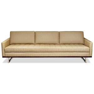 Mid-Century Modern Sofa with Bench Cushion
