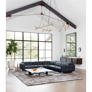 5-Piece Power Reclining Wall Sectional