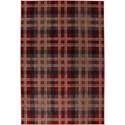 """American Rug Craftsmen Dryden 3' 6""""x5' 6"""" Billings Crimson Area Rug - Item Number: 90294 37001 042066"""