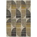 """American Rug Craftsmen Metropolitan 5' 3""""x7' 10"""" Crescent Oyster Area Rug - Item Number: 91000 10038 063094"""