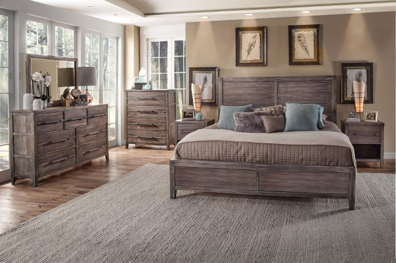 Aurora Queen bedroom group by American Woodcrafters at Value City Furniture