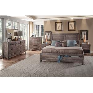 Queen Bed with Dresser, Mirror, & Nightstand