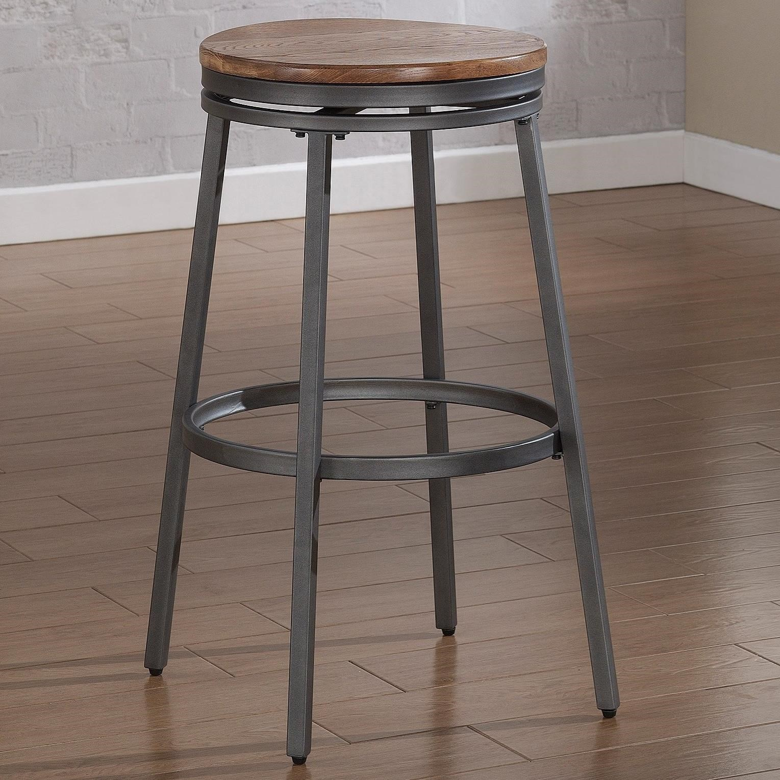 American Woodcrafters Barstools Backless Stool with Metal Frame - Item Number: B1-100-25W