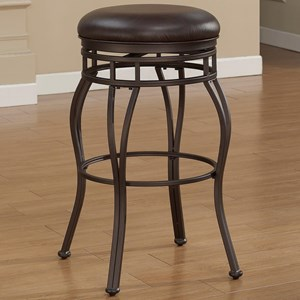 American Woodcrafters Barstools Backless Metal Stool