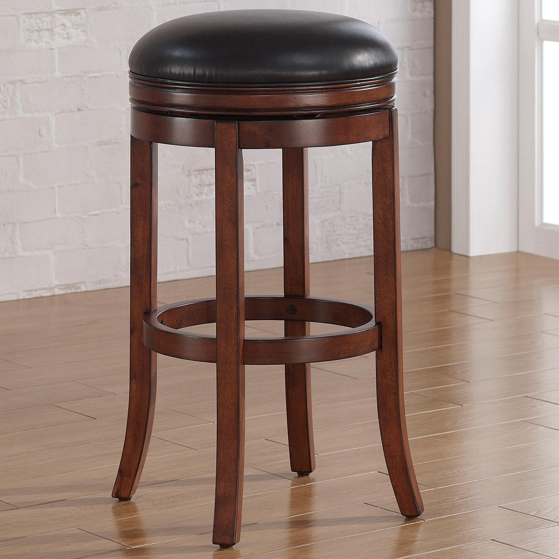 American Woodcrafters Barstools Backless Wood Stool - Item Number: B2-200-30L